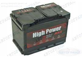 Аккумулятор 78 Ач пуск 780А (0) (EU) (гарантия 3 года) High Power Max