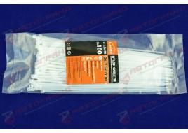 Хомут стяжной пластиковый L190MM H2.5MM белый
