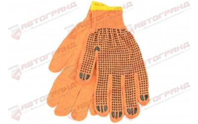 Перчатки трикотажные  х/б 10-класс оранжевые