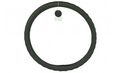 Оплетка руля кожа Газель, УАЗ (41-42 см) под пальцы, черная Avtogen
