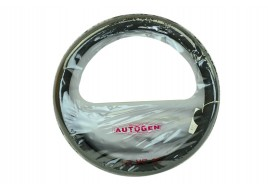 Оплетка руля кожа 2107-2107, 2121, 2141, ГАЗ (39-40 см) гладая, черная Avtogen