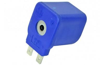 Катушка електромагнитная для клапана газа, бензина 12V 17Wt синяя TOMASETTO