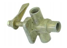 Кран топливный в сборе (бензобака) УАЗ (ПП6-2) СССР / 69-1104160