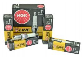 Свечи зажигания 2110-12, 1117-19, 2170-72 V-Line 11 с резистором (16 кл) (к-кт 4 шт) NGK