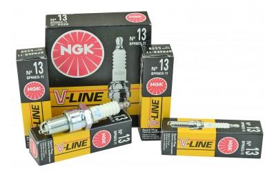Свечи зажигания 2110-12, 1117-19, 2170-72 V-Line 13 с резистором (8 кл) (к-кт 4 шт) NGK