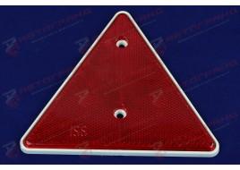 Светоотражатель треугольник красный с отверстиями