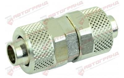 Фитинг прямой с накидной гайкой металл внешний D10MM D8MM внутренний