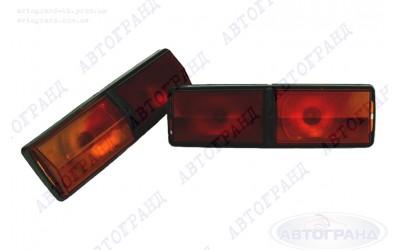 Фонарь 2101 задний (черный корпус) оранж/красный (к-кт 2 шт)