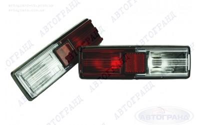 Фонарь 21011 задний (черный корпус) тюнинг белый/красный (к-кт 2 шт)