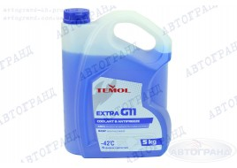 Антифриз G-11 -42°С синий 5л TEMOL Extra