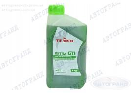 Антифриз G-11 -42°С зеленый 1л TEMOL Extra