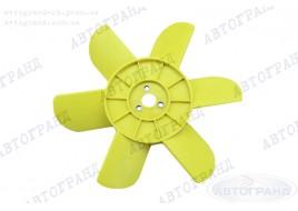 Крыльчатка радиатора 2101-2107, 2121 6-ти лопастная желтая (металлические втулки)