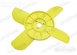 Крыльчатка радиатора 2101-2107, 2121 4-х лопастная желтая (пластиковые втулки)