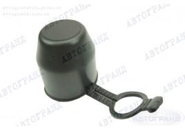 Колпак фаркопа Черный резиновый с предохранителем (хлястик) ПОЛЬША