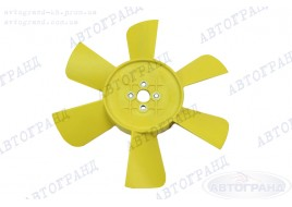Крыльчатка радиатора ГАЗ 3302, 2705, 2217 (6-ти лопастная) металлические втулки (желтая)