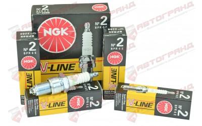 Свечи зажигания 2101-07, 2121-213, 2108-099, 1102, Lanos V-Line 2 с резистором (8 кл)(к-кт 4 шт) NGK