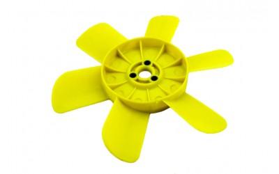 Крыльчатка радиатора 2101-2107, 2121 (6-ти лопастная) желтая Сызрань