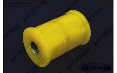 Сайлентблок рессоры ГАЗ 3302  полиуретан желтый (2 втулки, металлическая трубка)