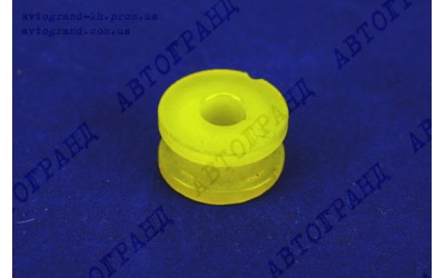 Подушка противошумная рычагов КПП УАЗ 452 (без металлической втулки) полиуретан желтый