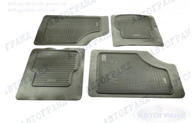 Комплект ковров универсальных низкий борт черные (к-кт 4 шт) АКЦЕНТ
