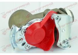 Пневмосоединение с фильтром красное KU1400 (M16x1.5 внутреннее X M22 x1.5 внешнее)