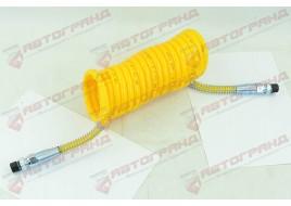 Шланг пневматический полиэтилен M16x1.5MMXM16x1.5MM 4,5м желтый  Fi=70 спирали