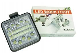 Фара светодиодная (24+10  led, дополнительная, квадратная, с креплением)