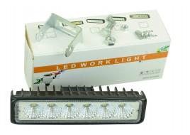 Фара светодиодная (6 led, дополнительная с крепежом, прямоугольная)