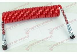 Шланг пневматический POLIURITAN  M22x1.5MMXM22x1.5MM 4,5м красный Fi=70 спирали