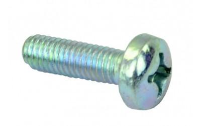Винт петли подлокотника 2101-2107 короткий, цилиндрическая головка, кривой шлиц (М6х20х1) БелЗАН