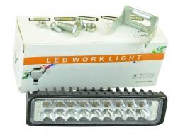 Фара светодиодная (18 led, дополнительная с крепежом, прямоугольная)