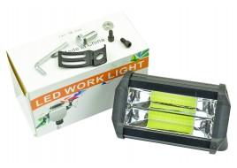 Фара светодиодная (24 led, дополнительная с крепежом, прямоугольная)