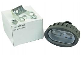 Фара светодиодная (2 led дополнительная с крепежом, овальная) СОВА
