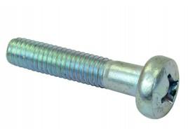 Винт петли подлокотника 2101-2107 длинный, цилиндрическая головка, кривой шлиц (М6х30х1) БелЗАН