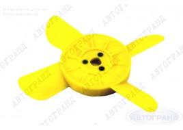 Крыльчатка радиатора 2101-2107, 2121 (4-х лопастная) желтая Сызрань