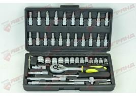 Универсальный набор инструмента головки 46-придметов СТАЛЬ М