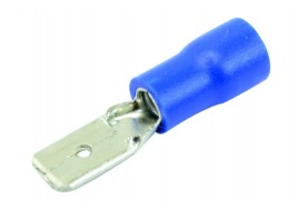 Клемма (папа) микро.(4,8) d-2,5 мм2 с синим изолятором Украина