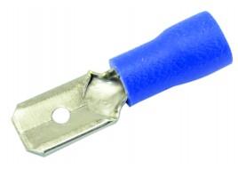 Клемма (папа) универ, (6,3) d-2,5 мм2 с синим изолятором Украина