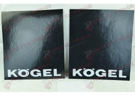 Комплект брызговиков с надписью (2 штуки) KOGEL 450x400 L/P