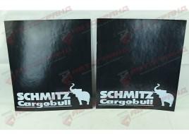Комплект брызговиков с надписью (2 штуки) Schmitz 450x400 L/P ПАРА