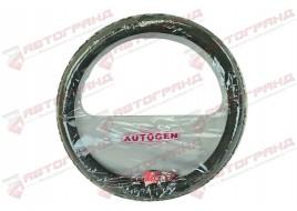 Оплетка на руль Таврия (35-37 см) гладая, черная Avtogen