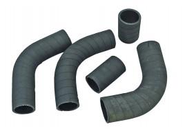 Патрубки системы охлаждения УАЗ 452, 469 (УМЗ 421- 100 л/с дв) (патрубки радиатора) (к-кт 5 шт)