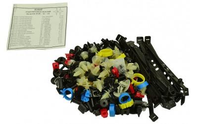 Ремкомплект кузова 2110, 2111, 2112 (хомуты, пистоны, скобы, держатели)