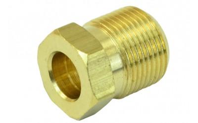 Гайка 8 мм M14*1 (латунь) для медной трубки (наружная резьба) ATIKER