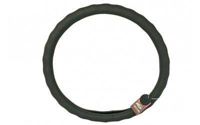 Оплетка руля кожа Газель, УАЗ (41-42 см) под пальцы,с перфорацией, черная Avtogen