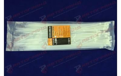 Хомут стяжний пластиковий L300MM H3.6MM білий
