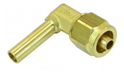 Фитинг Ø8 мм (переходник, штуцер) для трубки ПВХ угловой в сборе FARO