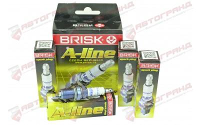 Свечи зажигания 2110-2112, 1117-1119, 2170-2172 A-LINE 12 с резистором (16 кл.) 16 (к-кт 4 шт) BRISK