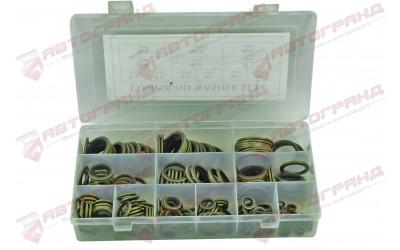 Набор шайб латунных с резиновой вставкой (245 штук)