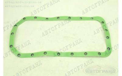 Прокладка масляного картера ГАЗ 31029, 3302 (ЗМЗ 402 дв) (зеленый, с пресс шайбами) силикон ПТП